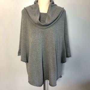 Gray Bebe poncho sweater